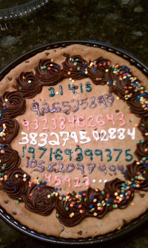 Pi on a cookie cake