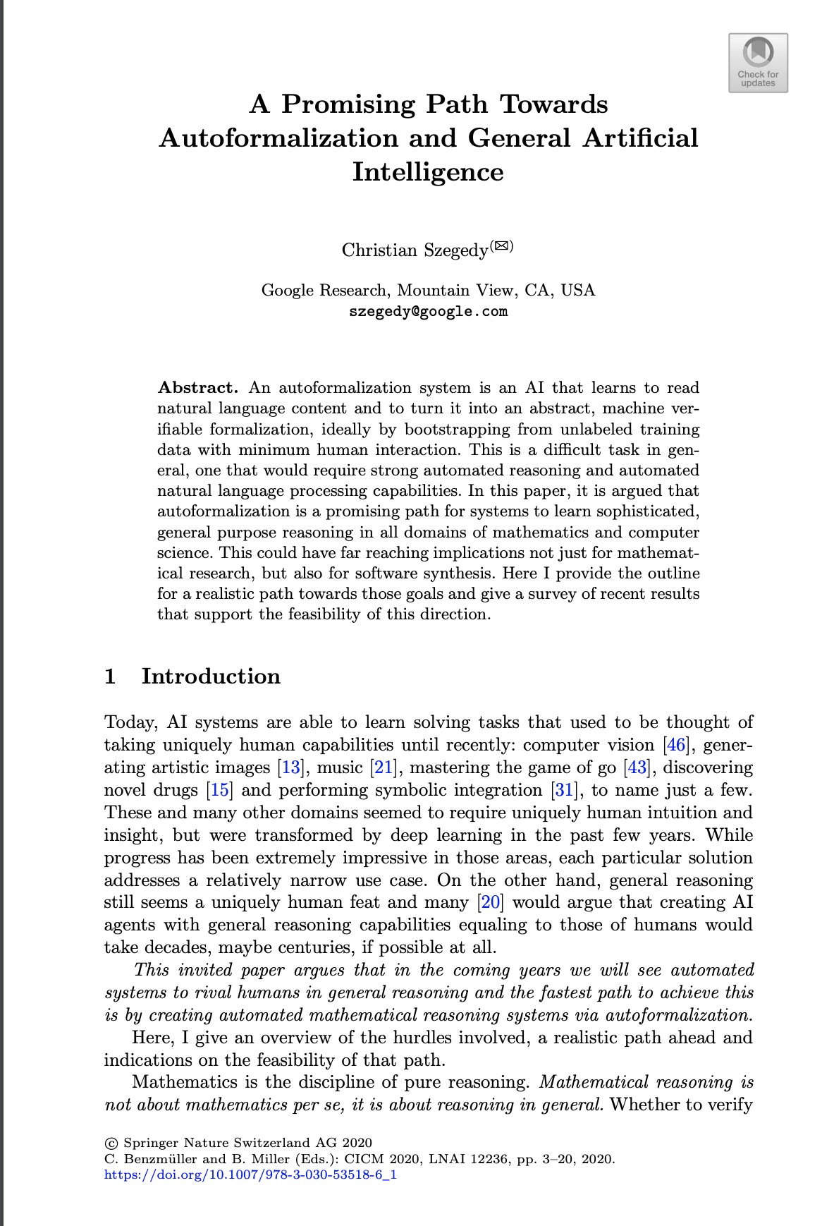 Picture of the first page of the research paper
